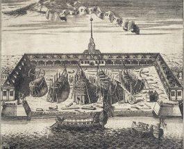 Петропавловская крепость 1719 год